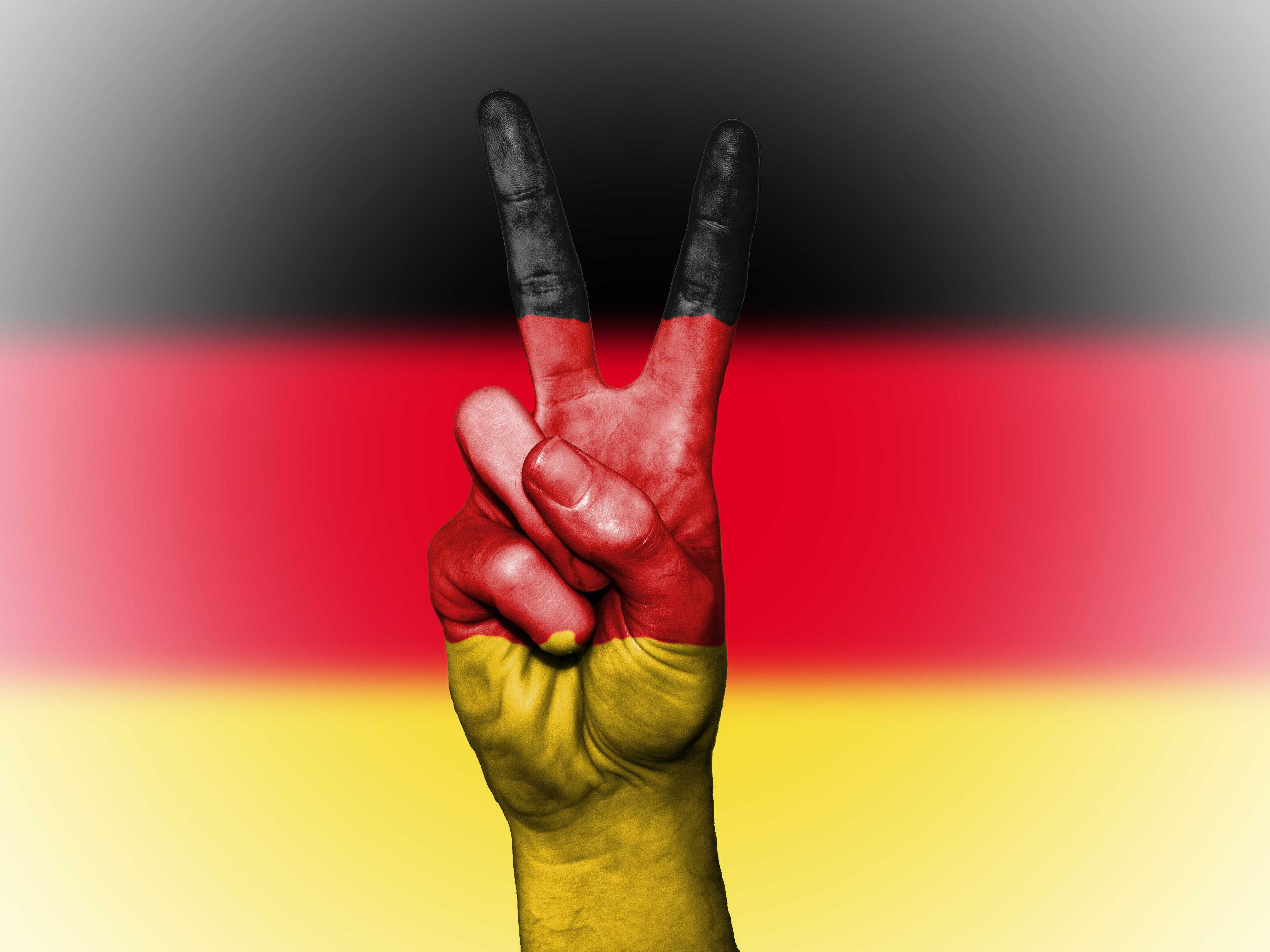 Flag of Germany With Peace Sign