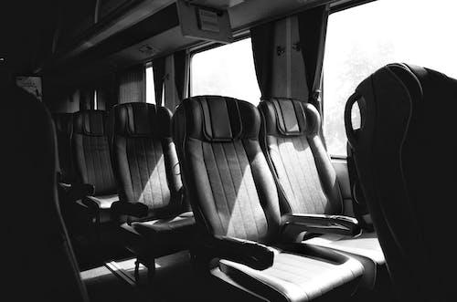 Free stock photo of empty, morning, seats, train