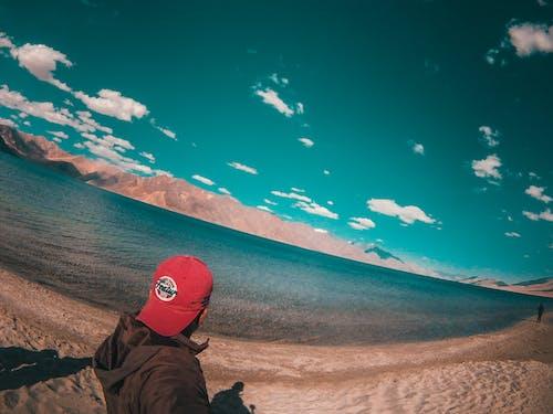 Free stock photo of blue, flakes, road trip, selfie