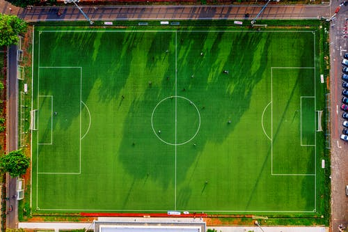 Top View Photo of Soccer Field during Day