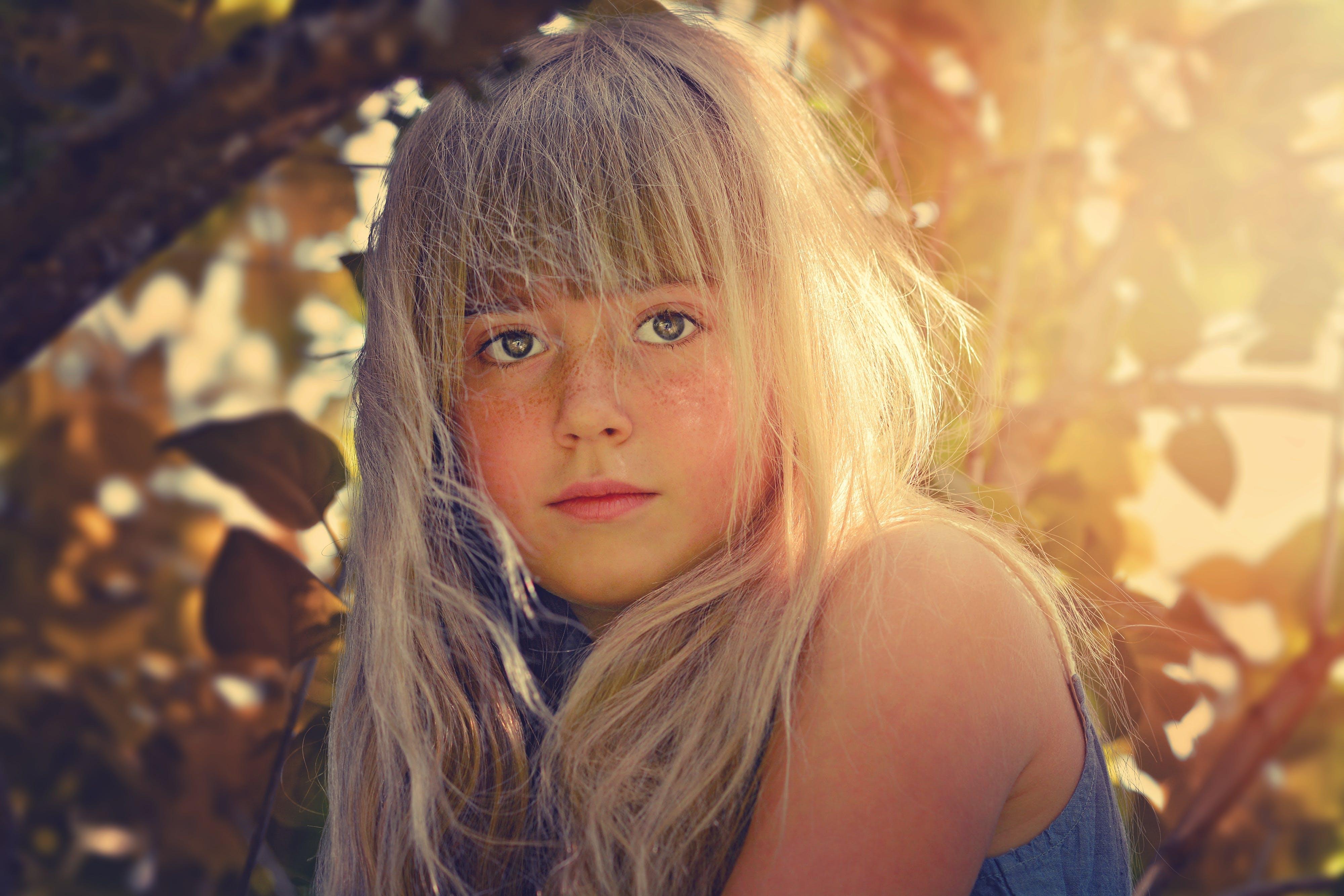beauty, blonde, child