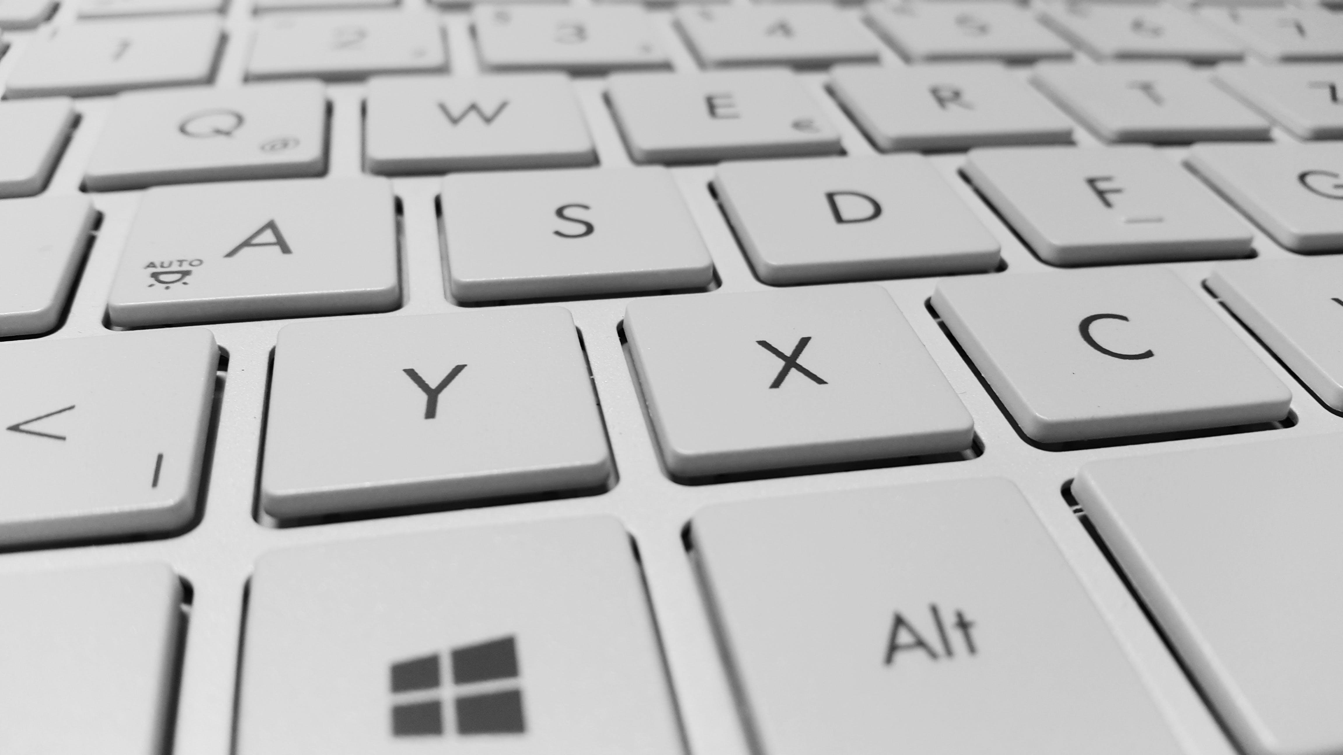 White Coumputer Keyboard