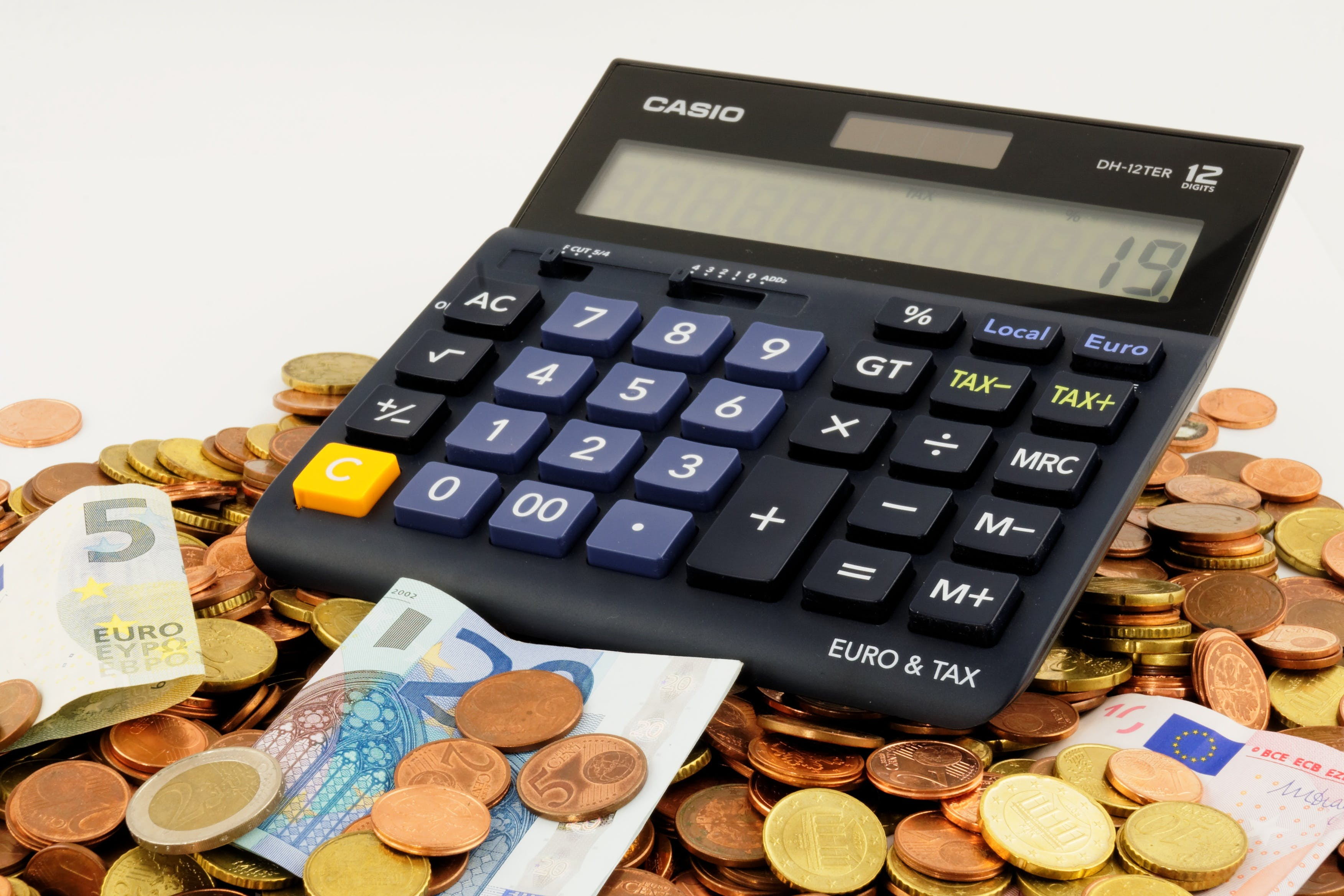 Free stock photo of numbers, money, calculation, calculator