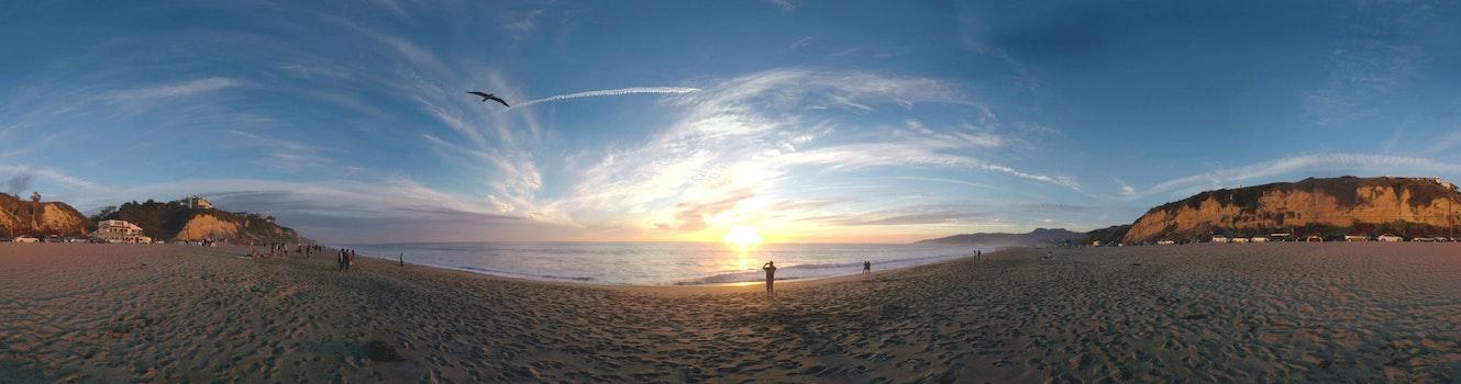 Free stock photo of sunset, beach, california, malibu