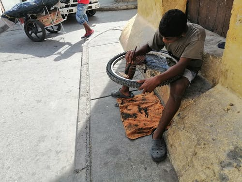 Free stock photo of bicycle, mechanical, repairing, wheel
