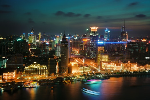 Free stock photo of light, sea, city, traffic