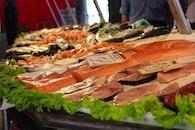 market, fish, fishes