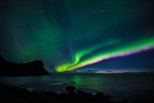 Δωρεάν στοκ φωτογραφιών με aurora borealis, αιθέριος, ακτογραμμή, απόγευμα