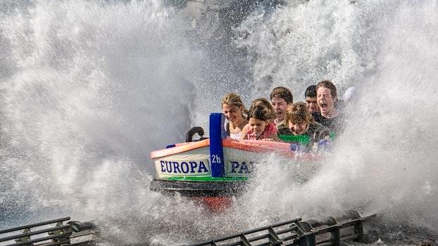 Free stock photo of water, park, amusement park, joy