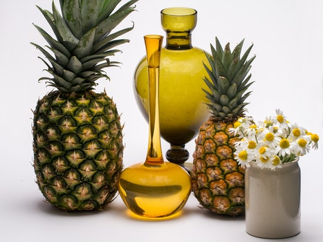 Free stock photo of flowers, fruits, pineapple, still life