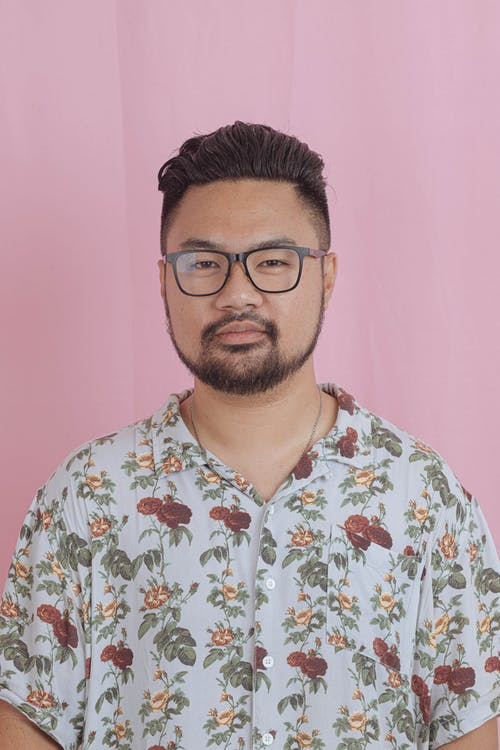 Man in Floral Top