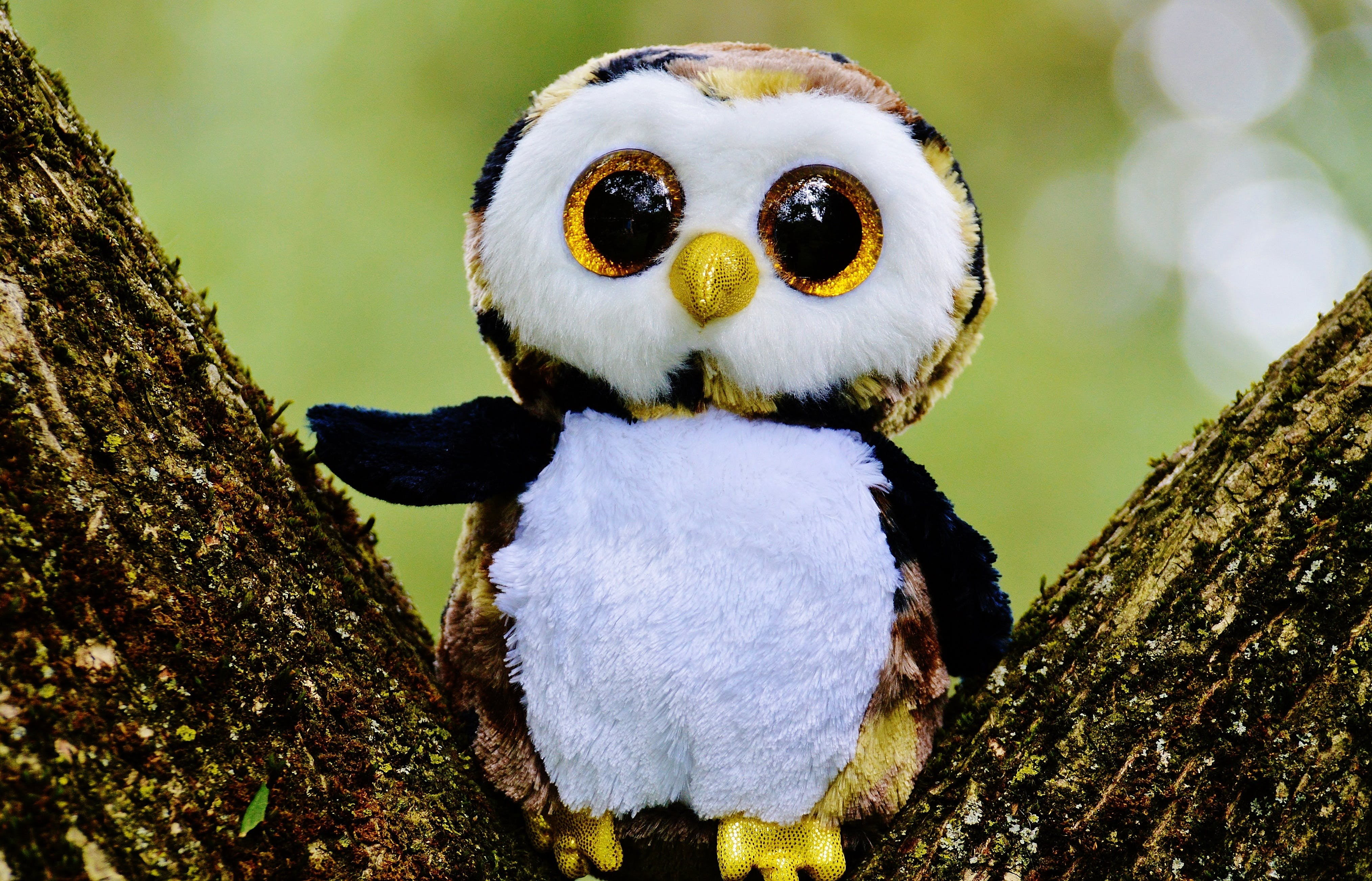 White and Brown Owl Plush Toy
