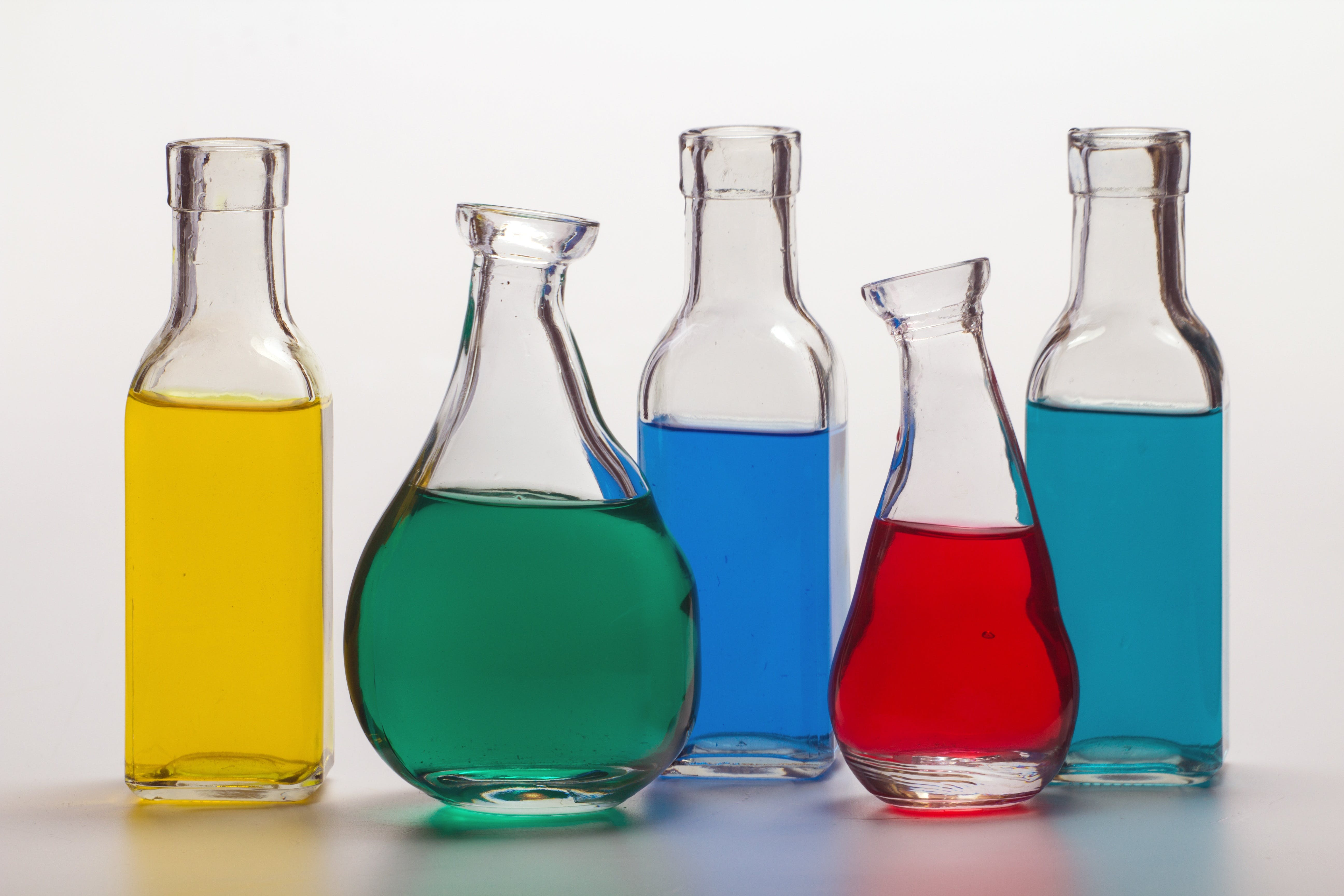 Clear Glass Chemical Bottle