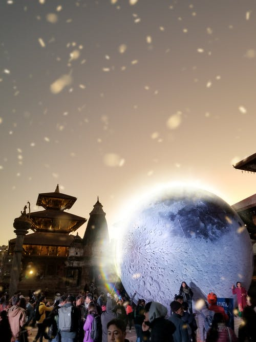 Free stock photo of eclipse, moon, patan durbar square