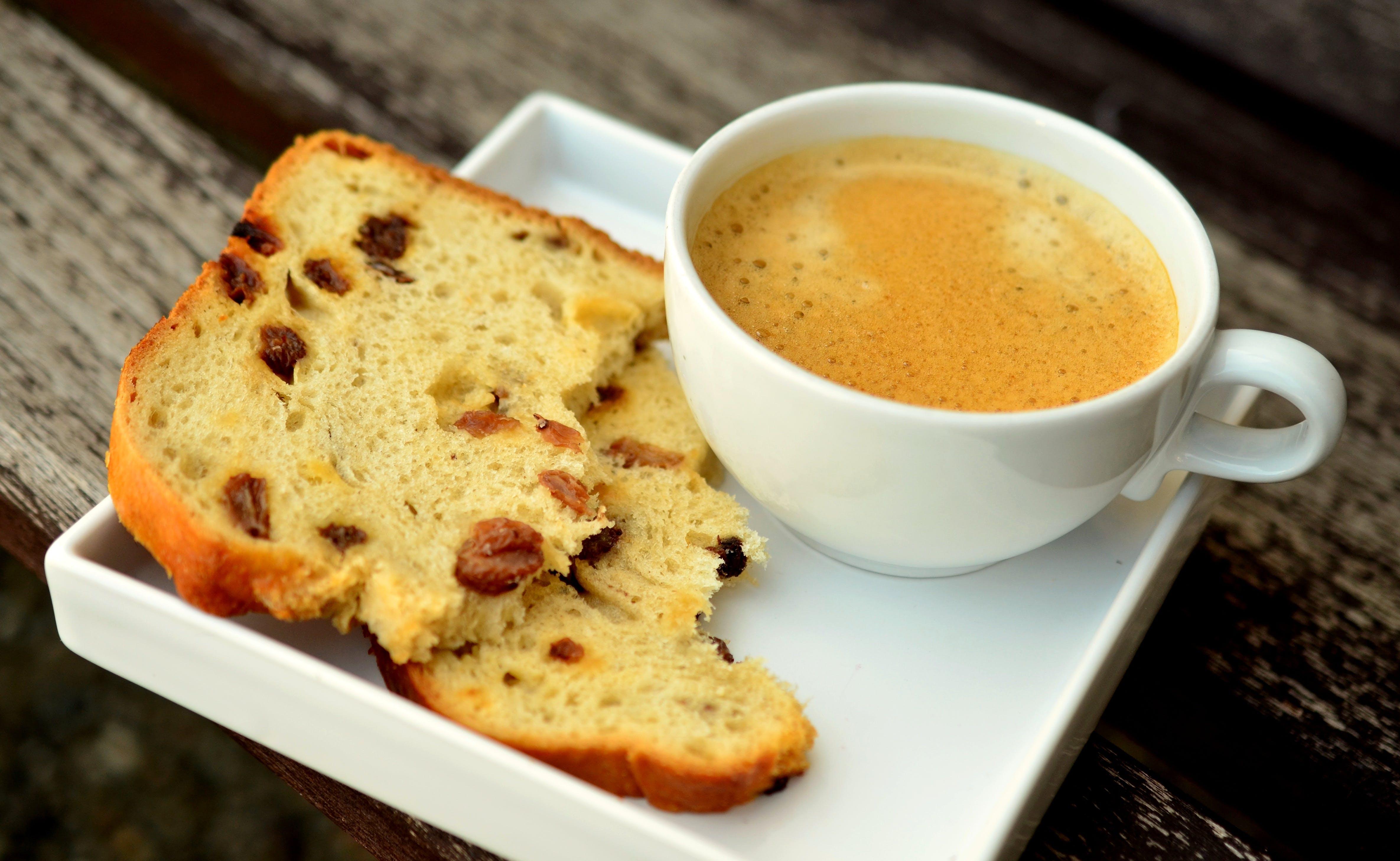 Kostenloses Stock Foto zu brot, essen, koffein, kaffee