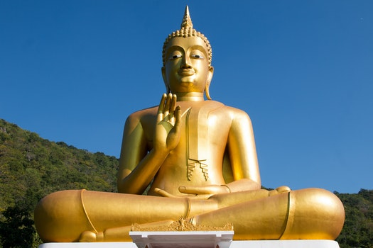 Free stock photo of statue, golden, Buddhism, buddha