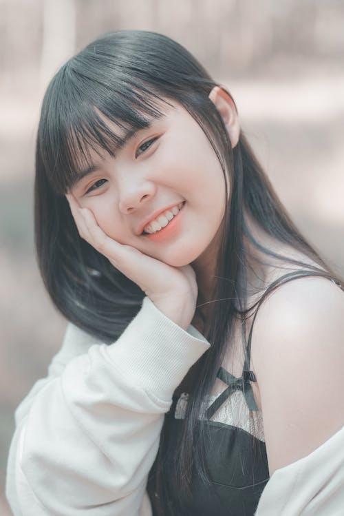 Ilmainen kuvapankkikuva tunnisteilla aasialainen nainen, asento, hymy, hymyily