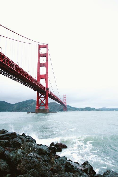 ゴールデンゲートブリッジ, サンフランシスコ, つり橋, ビーチの無料の写真素材