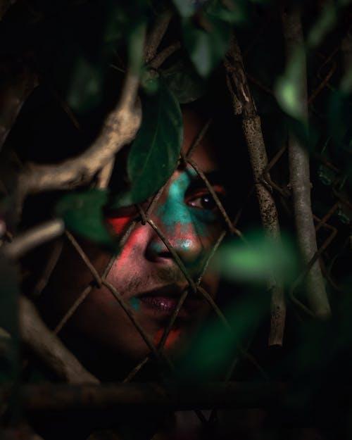 Δωρεάν στοκ φωτογραφιών με αλυσίδα-σύνδεση φράχτη, άνθρωπος, βάθος πεδίου, βάφω το πρόσωπο