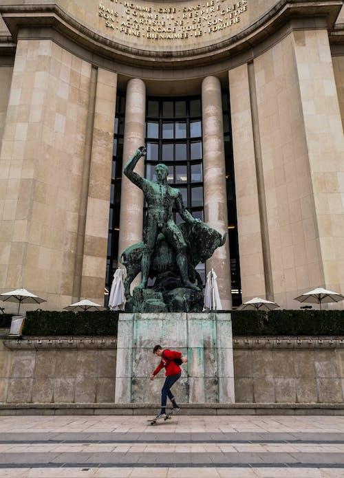 Kostenloses Stock Foto zu #mobilechallenge, paris, schlittschuh, statue