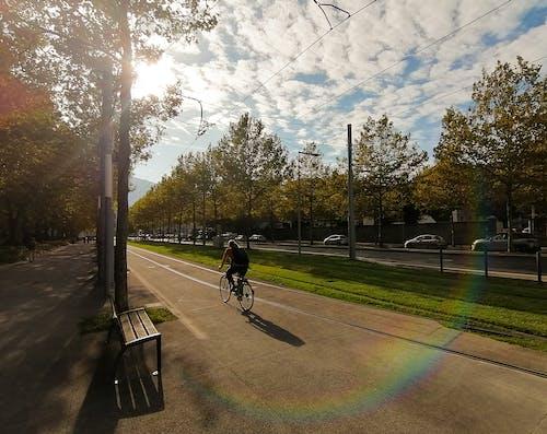 Kostenloses Stock Foto zu #mobilechallenge, fackel, fahrrad, radfahren