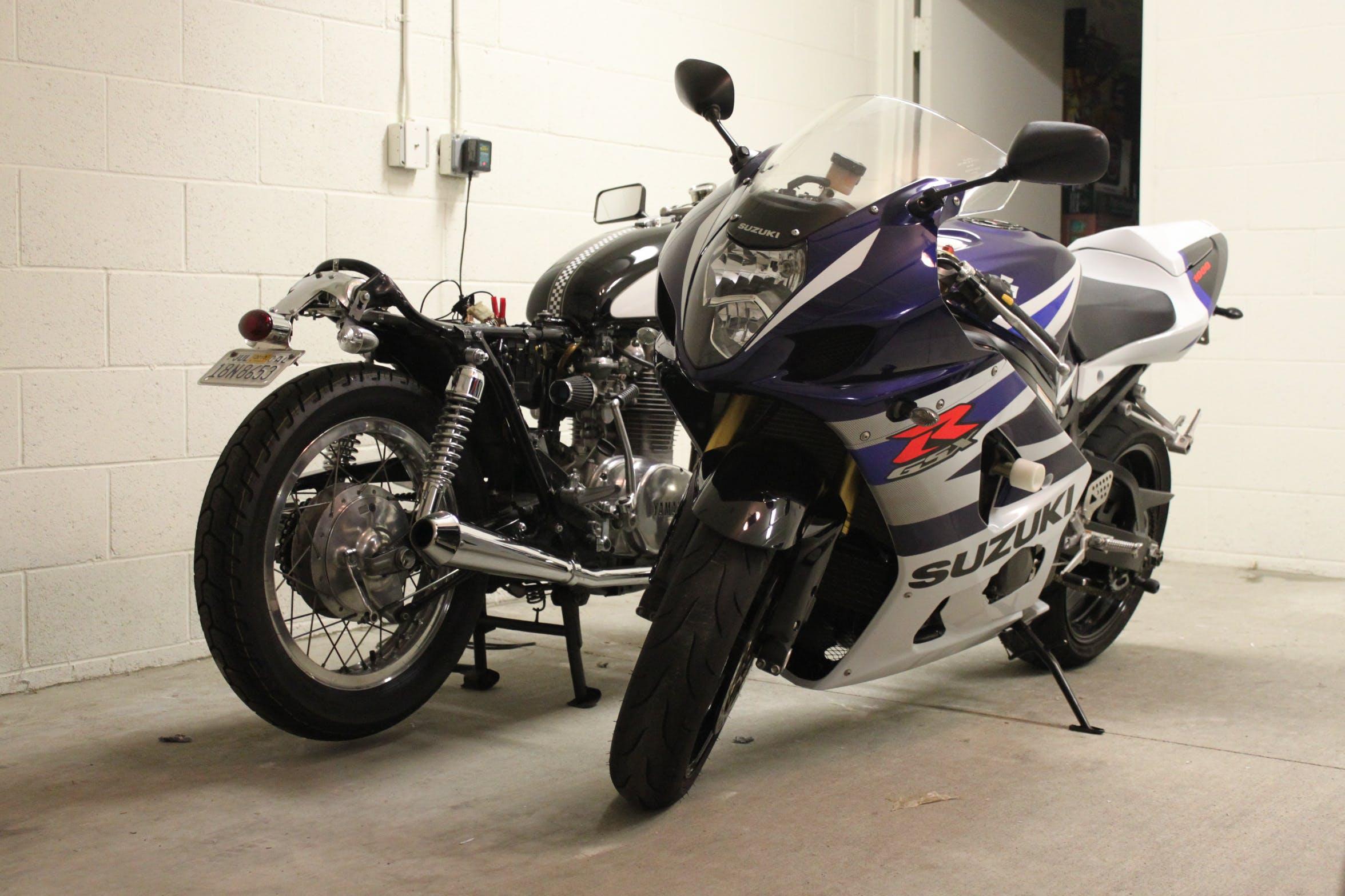 Free stock photo of headlight, motorcycle, super bike, suzuki