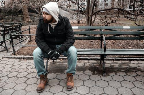 Ảnh lưu trữ miễn phí về áo hoodie, Áo khoác, Băng ghế, cô đơn