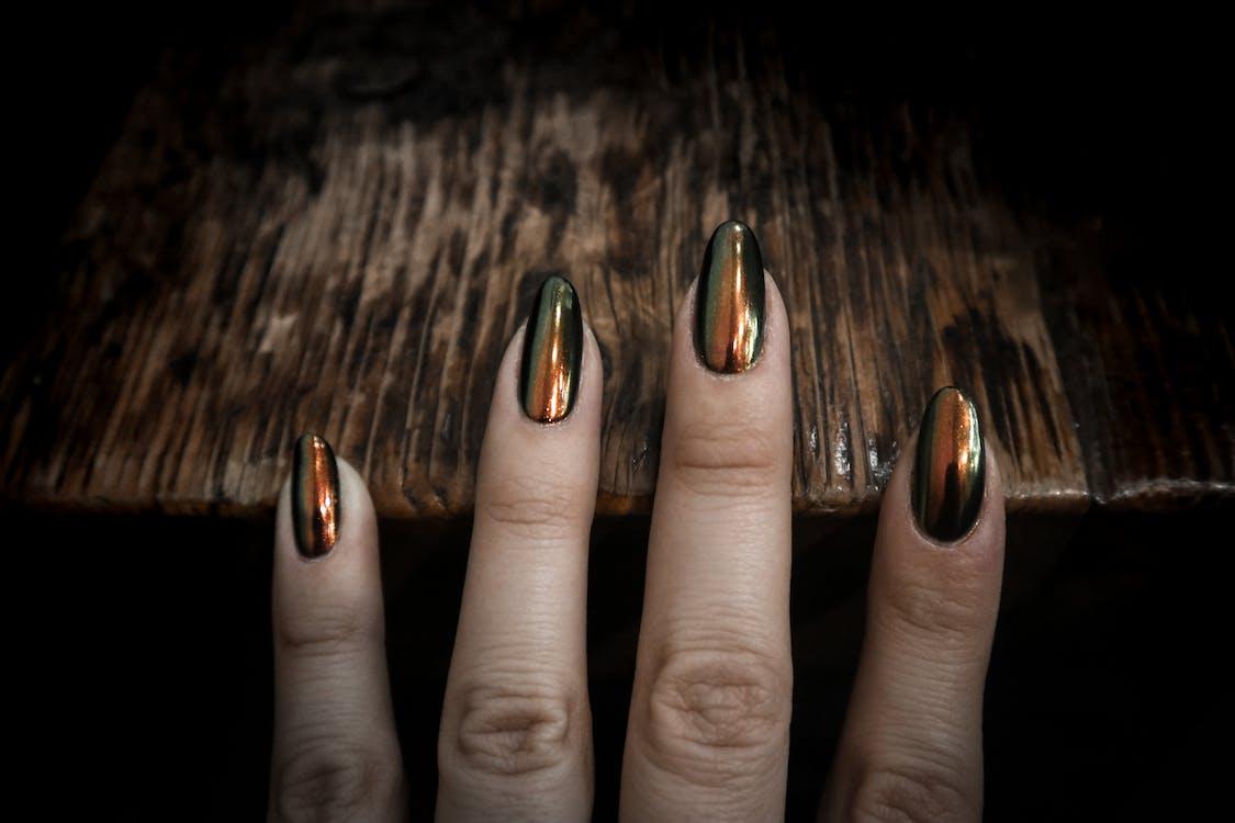 chrome, chrome nails, design