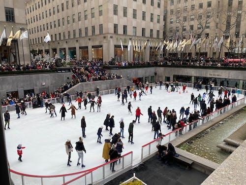 Photos gratuites de hiver, new york city, patinoire