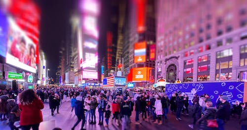 Gratis lagerfoto af New york city, new york city-baggrund, times square