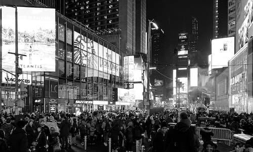 Kostenloses Stock Foto zu new york city, schwarz und weiß