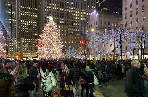 Kostenloses Stock Foto zu new york city, weihnachten, weihnachtsbaum