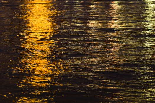 Free stock photo of sunset, water, reflections, golden