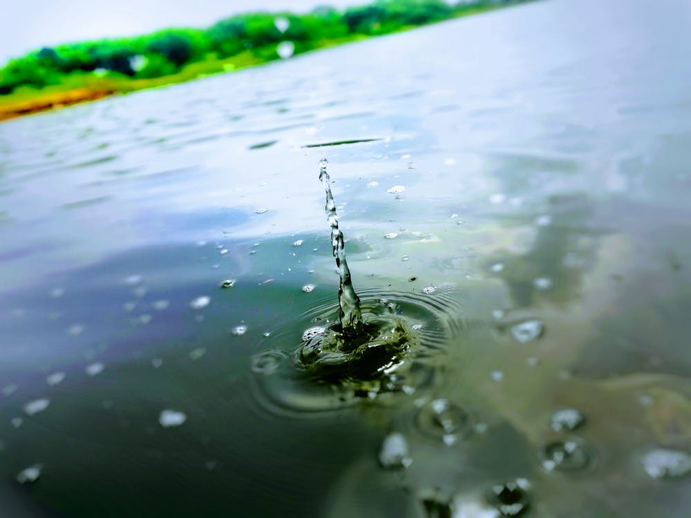 air bersih, air biru, fotografi seluler