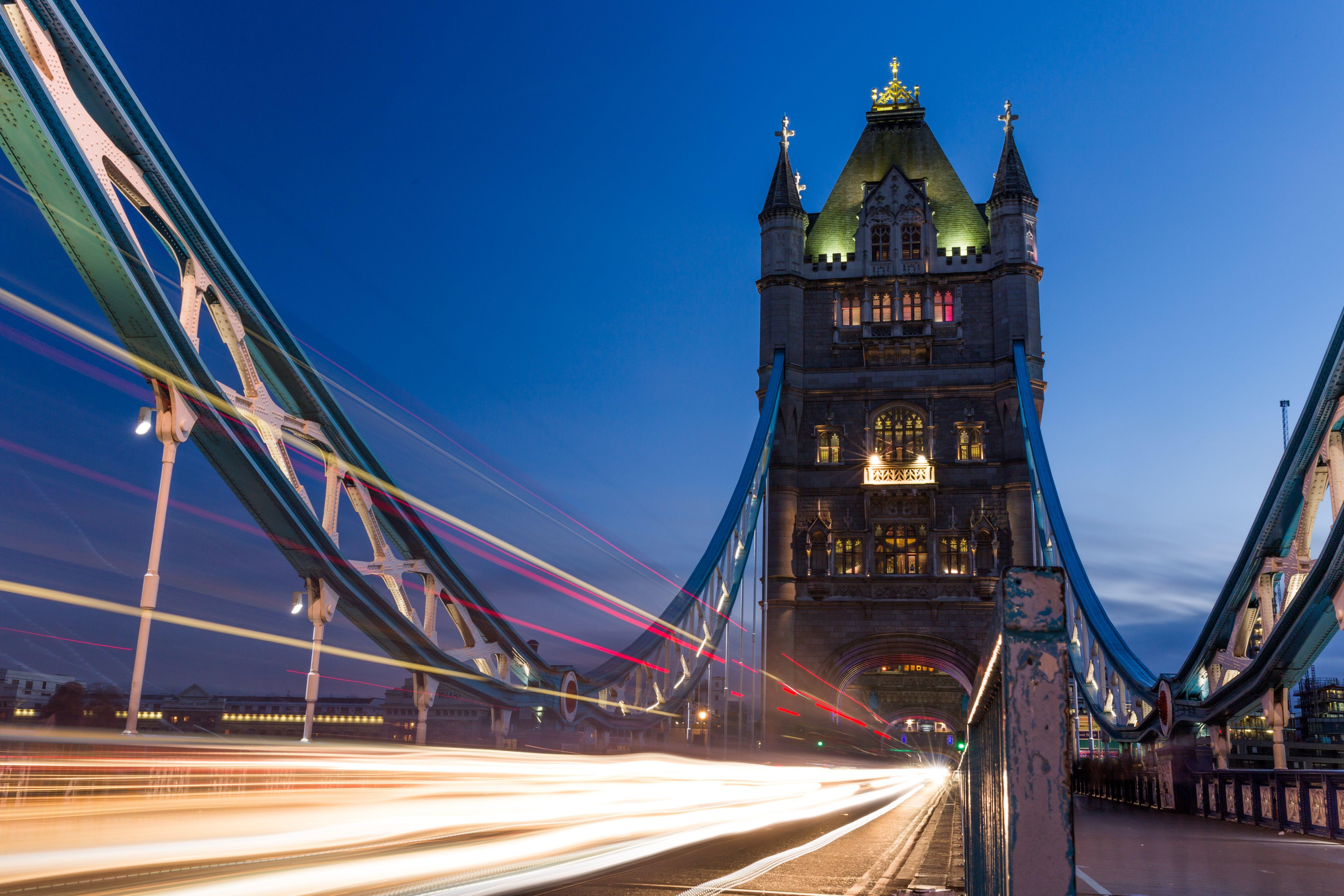 Timelapse Photography of Landmark Bridge