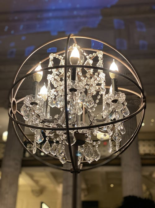 Free stock photo of chandelier, crystals, light