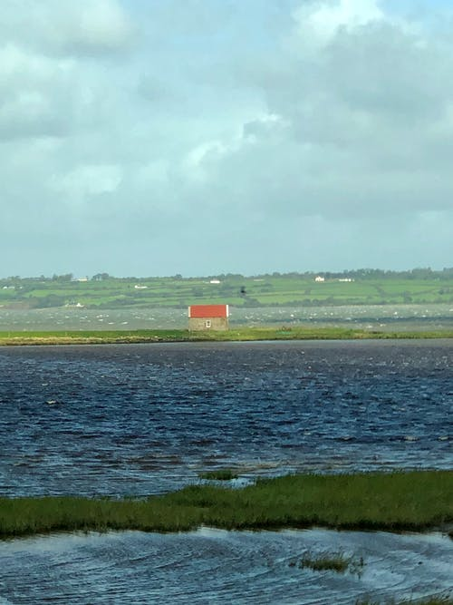 Free stock photo of house, lake, water