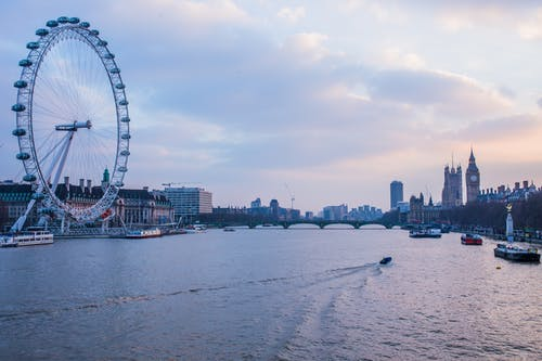 Big Ben, binalar, dönme dolap, Kent içeren Ücretsiz stok fotoğraf