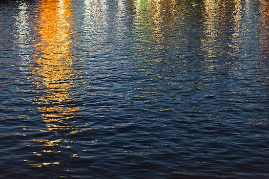 Free stock photo of sunset, water, reflection, golden