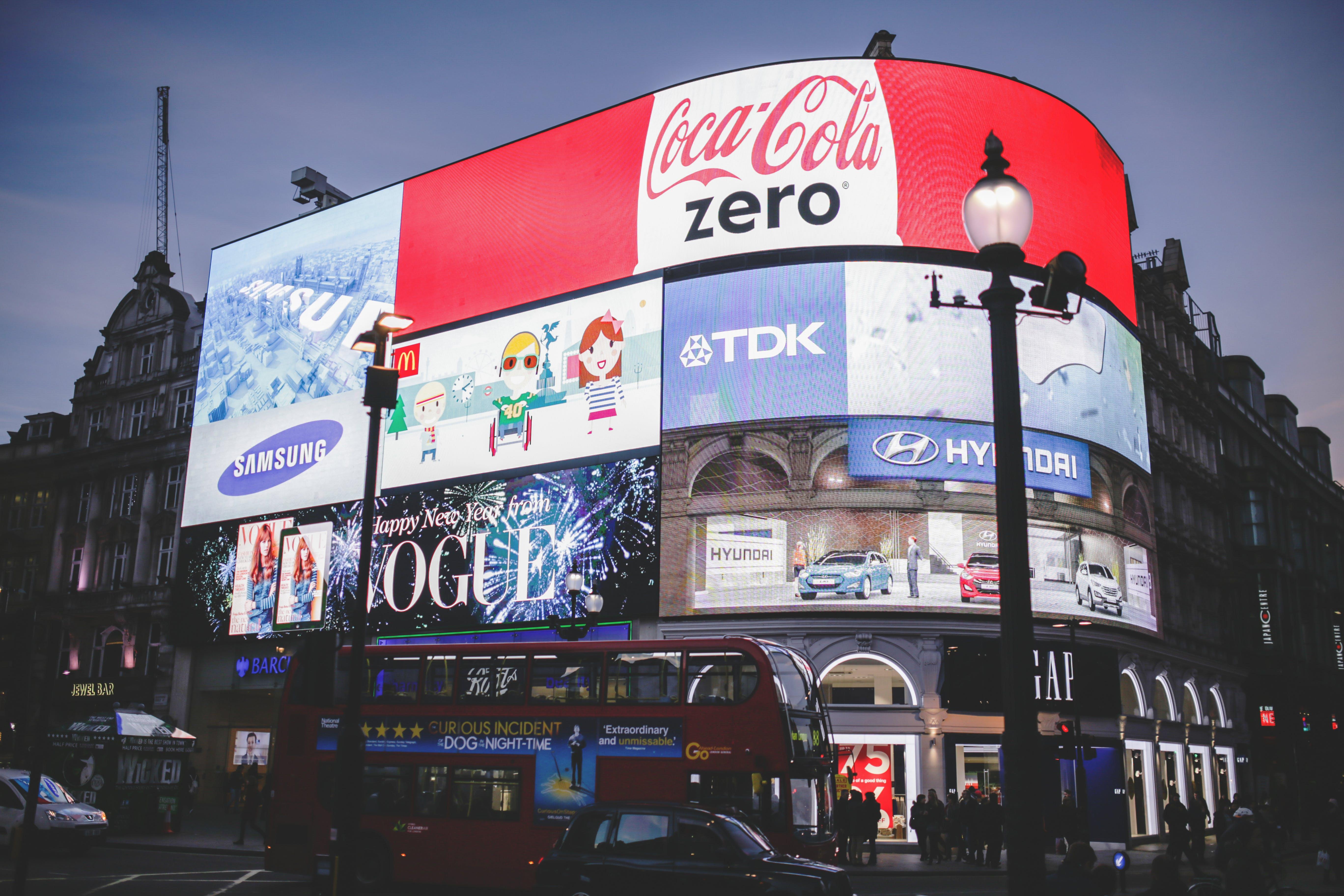 Red Coca Cola Zero Signage