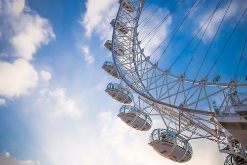 Základová fotografie zdarma na téma Anglie, London Eye, Londýn, modrá obloha