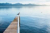 sea, mountains, water