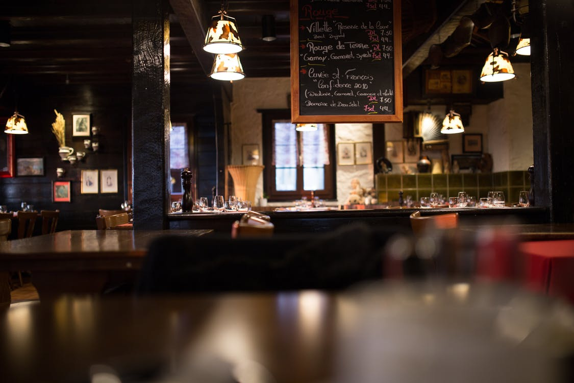 architektura, bar, ciemny