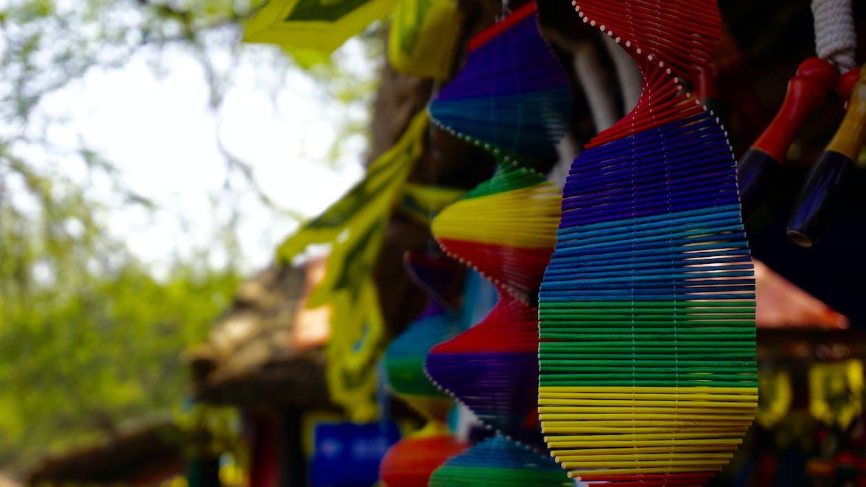 artystyczny, dekoracja, kolorowy