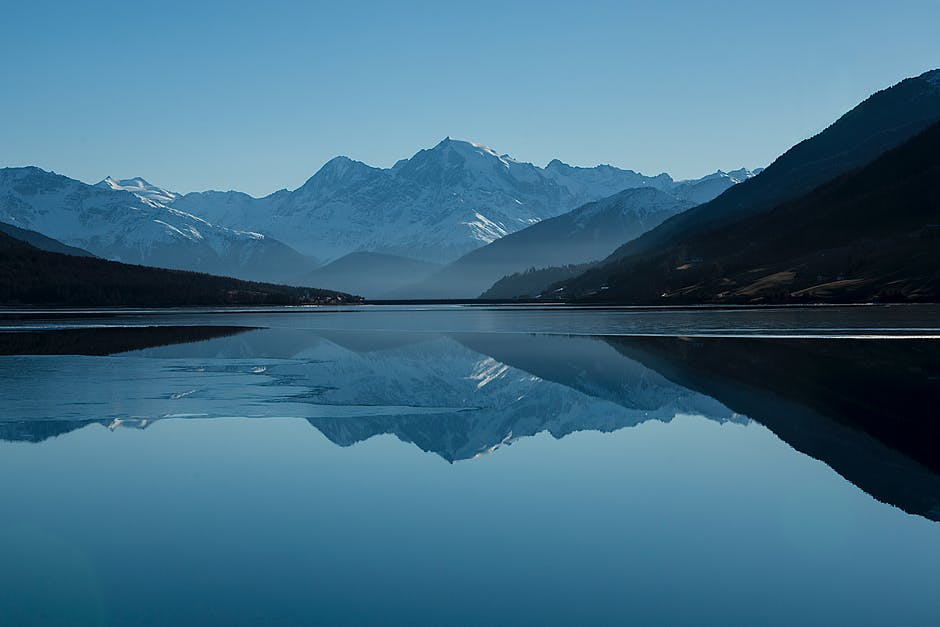 Pictured above is a lake with mountains in the background.