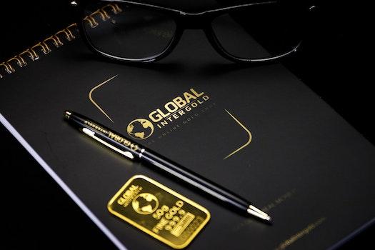 Free stock photo of notebook, company, eyeglasses, ballpen