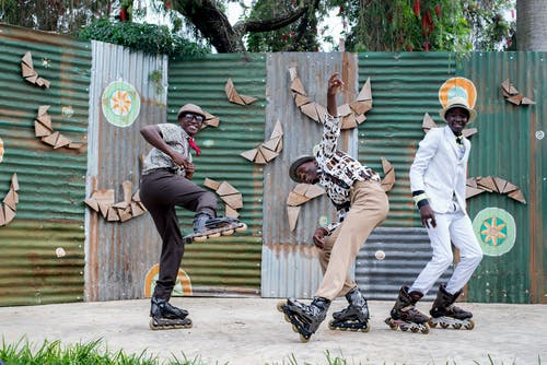 Men Wearing Roller Skates