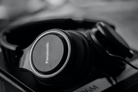 Free stock photo of black-and-white, dark, technology, blur