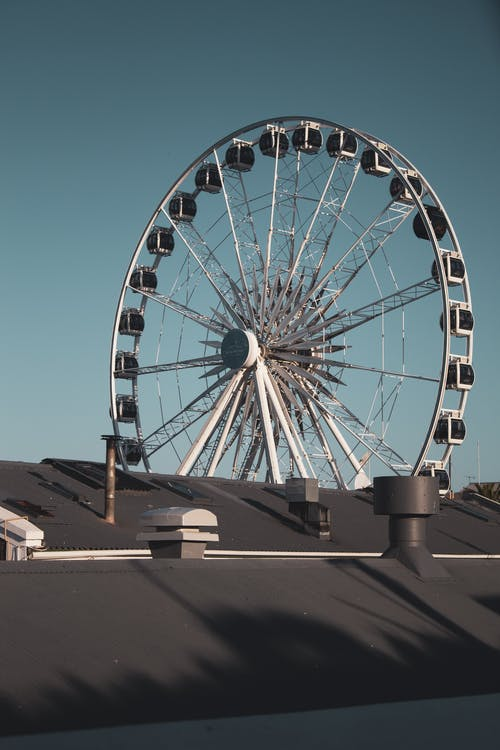 Ferris Wheel View from Rooftop