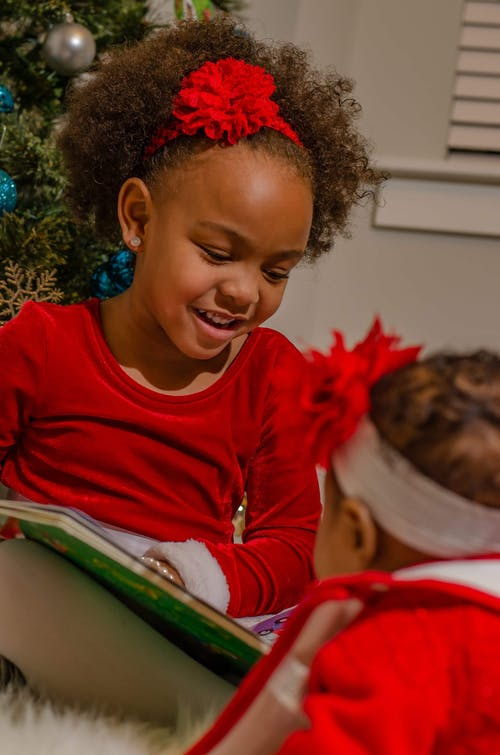 Free stock photo of african american girl, read, reading book, sister